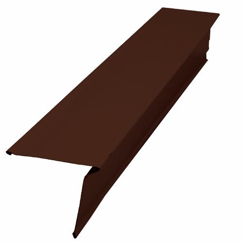 Solin de toit r versible en aluminium 3 x 3 brun - Solin de toit ...