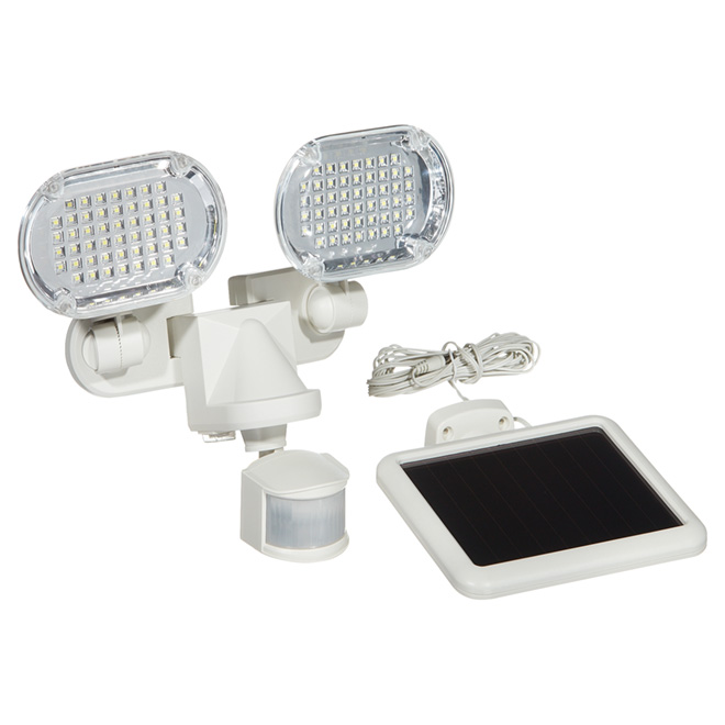 Sunforce Solar Motion Detector - 2-Head - White