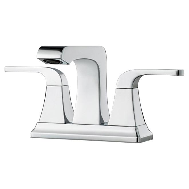 Robinet de salle de bains 2 poign es 4 chrome rona for Robinet salle de bain rona