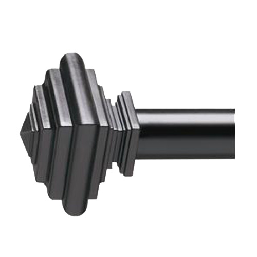Imperial Matte Black Decorative Curtain Rod