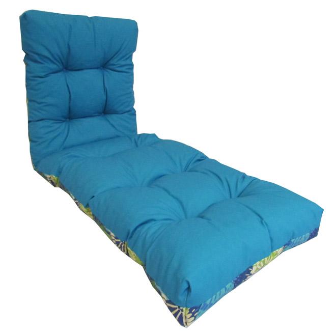coussin r versible pour chaise longue d 39 ext rieur rona