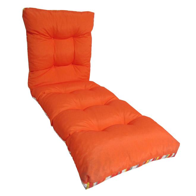 Coussin r versible pour chaise longue d 39 ext rieur rona for Chaise longue exterieur