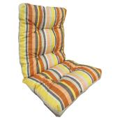 High-Back Patio Chair Cushion - Reversible - Red/Coral