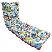 Patio Lounge Chair Cushion - Reversible - Blue/Red