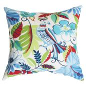 Patio Decorative Cushion - Reversible - Blue/Red