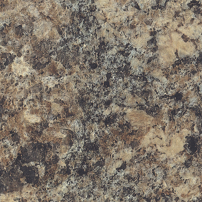"Moulded Counter 2300, Jamocha Granite, 25"" x 4'"