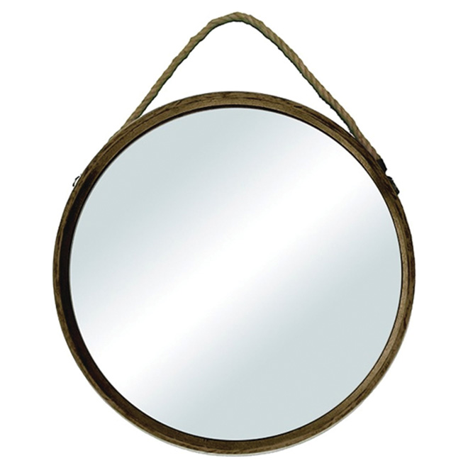 Circular Mirror with Rope - 18""
