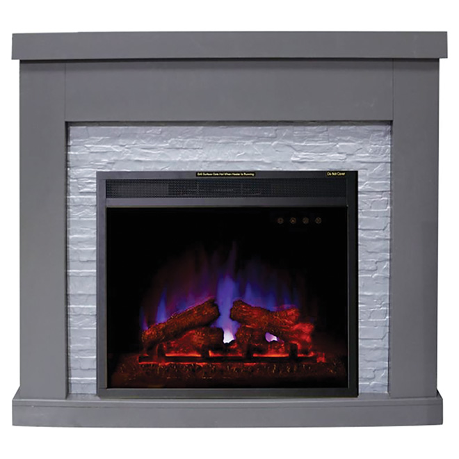 """Highland"" Electric Fireplace - 1500 W - Grey"