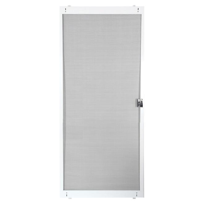porte moustiquaire ajustable pour porte patio blanc 30. Black Bedroom Furniture Sets. Home Design Ideas