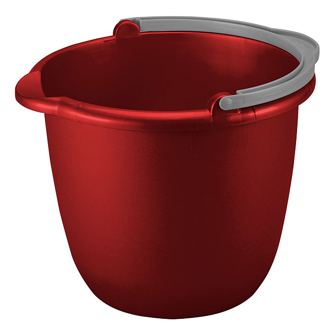 Spout Pail with Handle - 9.5 L - Red