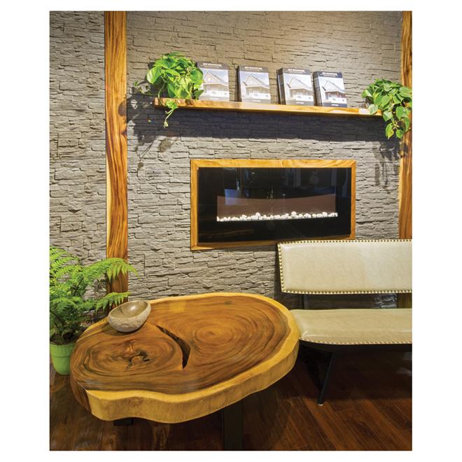Dessus de table caf en acacia naturel 31 1 2 rona for Table exterieur rona