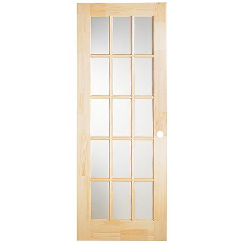 15 Panel Pine French Door 30 X 80 Natural Rona