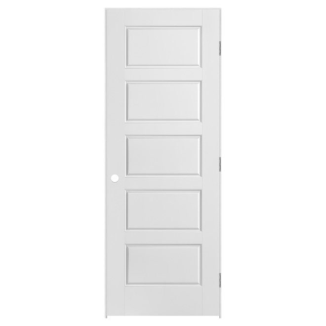 Riverside 5 panel pre hung door rona for Masonite porte exterieur