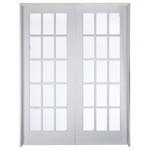 15 panel double french doors 60 x 80 rona for Masonite porte exterieur