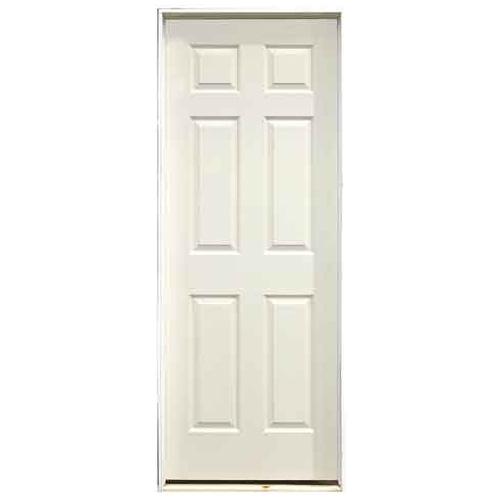Porte peinte pr mont e 6 panneaux 24 x 80 po droite rona for Masonite porte exterieur