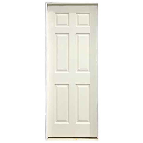 "6-Panel Pre-Hung Painted Door 28"" x 80"" - Left"