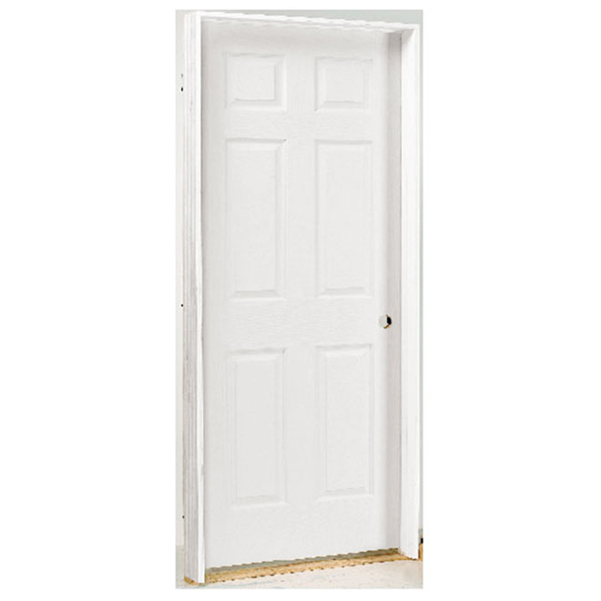 "6-Panel Textured Pre-Hung Door 24"" x 80"" - Left"
