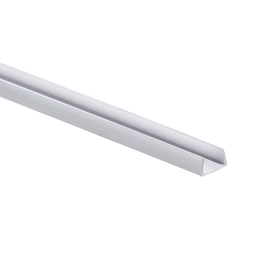 White Vinyl Shelf edge moulding