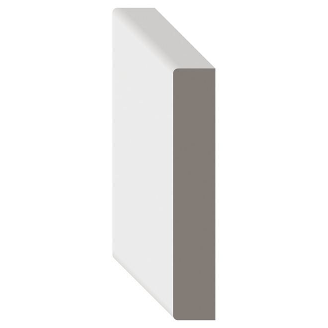 White Paint MDF Board D4S 1 in x 3 in x LF