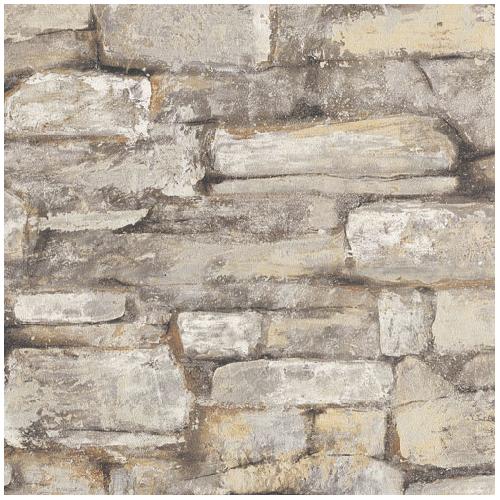 Papier peint fini pierres plates rona for Porte exterieur bmr