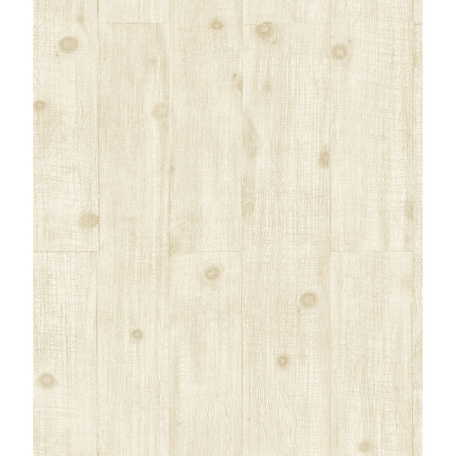 Natural Wood Prepasted Wallpaper