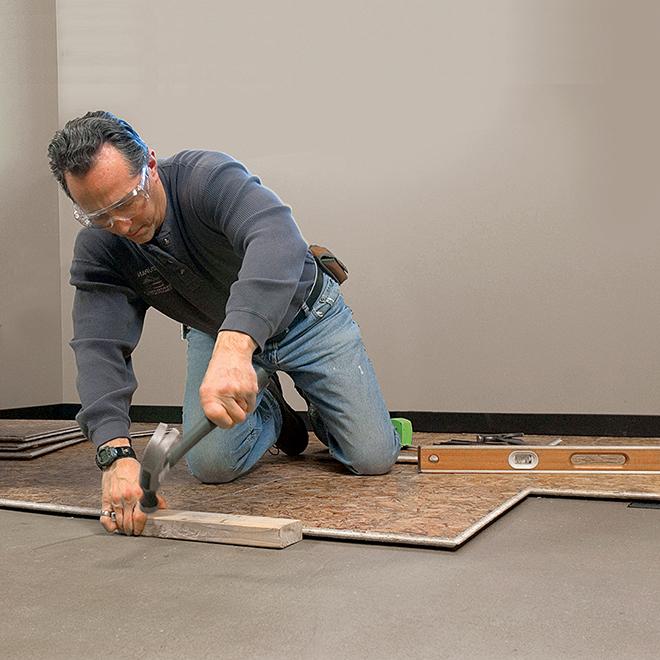 Panneau sous plancher embouvet 7 8 x 23 x 23 rona for Plancher salle de bain sous sol