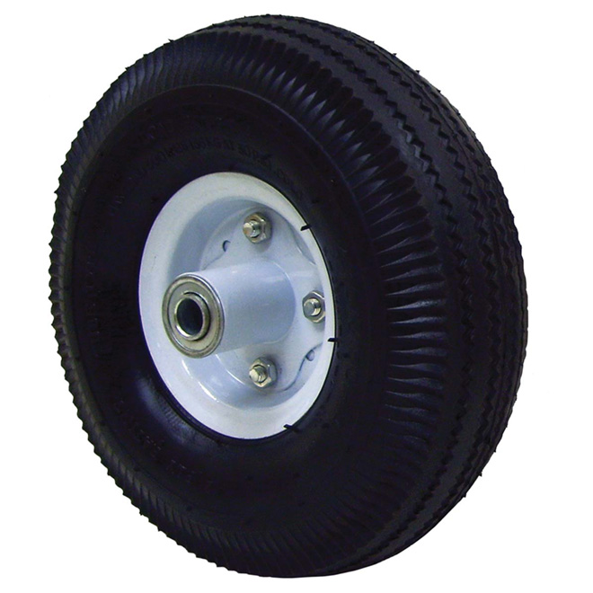 Wheelbarrow Pneumatic Wheel - 4.10/3.50-4 / 10""