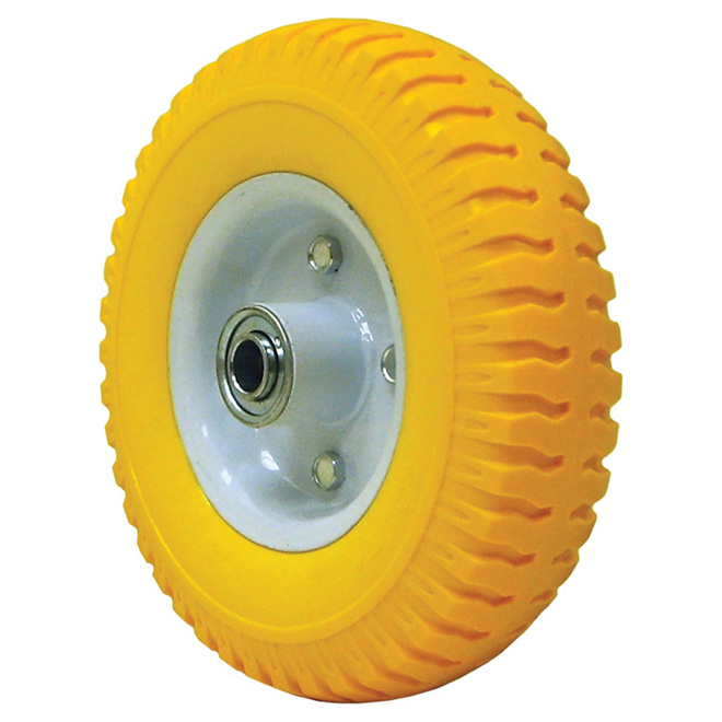 """Flat-Free"" Wheelbarrow Wheel - 3.5 R 4 / 9"""