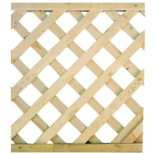 Diagonal-Pattern Cedar Lattice - 2' x 8'