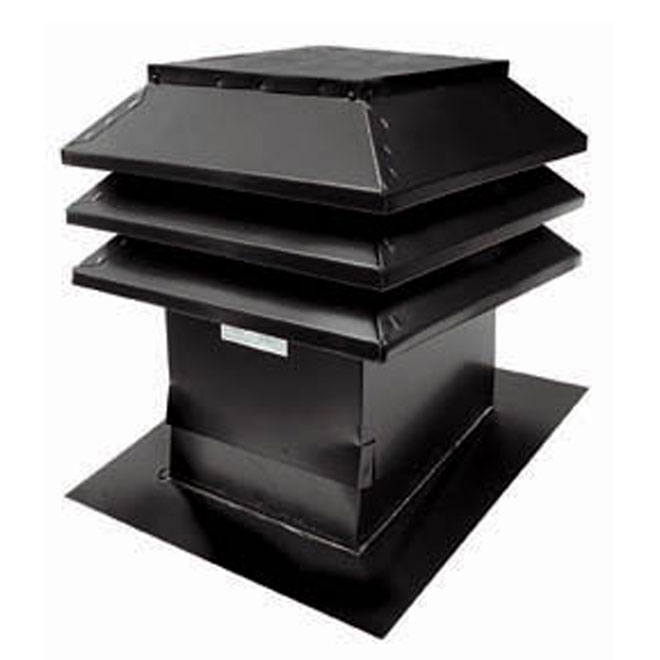 "Slanted Roof Vent 12"" x 12"" Grey"