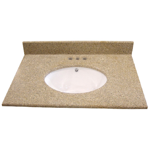 "Vanity Countertop - 49"" x 22"", Brown"