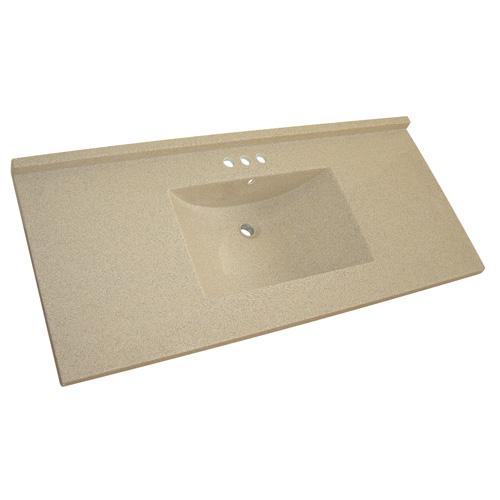 dessus de meuble lavabo 49 x 22 brun granit rona. Black Bedroom Furniture Sets. Home Design Ideas