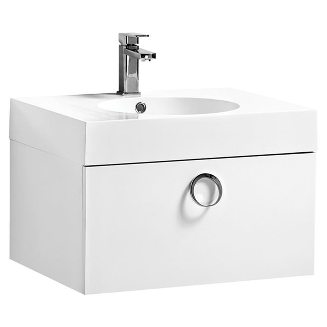 "Relax Vanity Sink - 1 Drawer - 23 1/2"" - White"