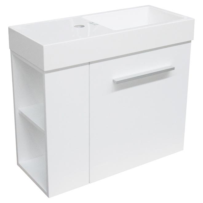 meuble lavabo mini 1 porte et dessus blanc rona. Black Bedroom Furniture Sets. Home Design Ideas