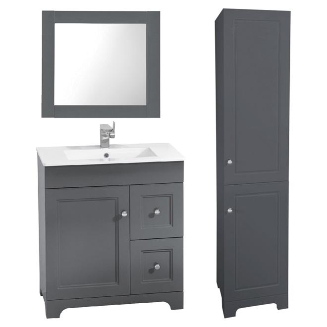 Meuble lavabo avec miroir et lingerie 3 pi ces rona - Lingerie salle de bain ...