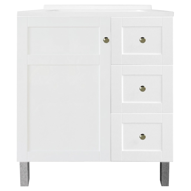 Sink cabinets latest martha stewart living in h x in w x for Armoire de salle de bain rona