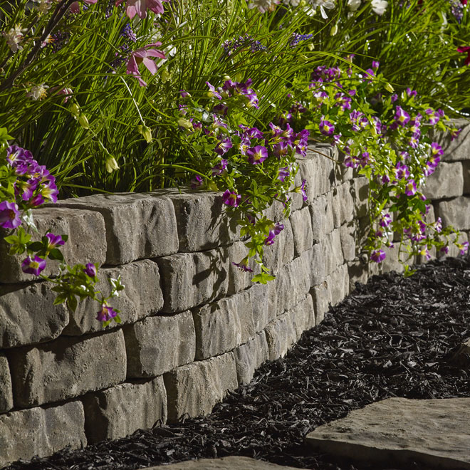 Landscaping Ties Rona : How to build stone walls in a garden guides apps directories