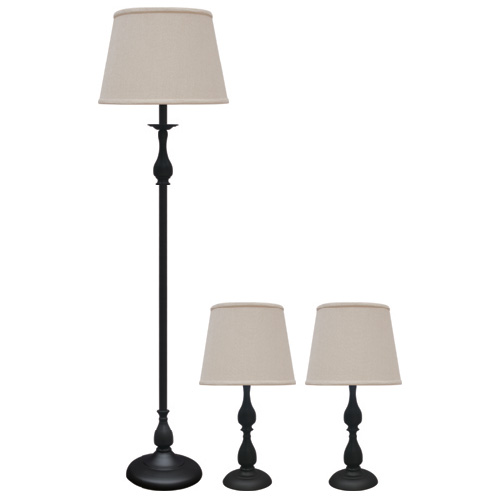 Lampes ensemble de 3 lampes rona for Lampe de table rona