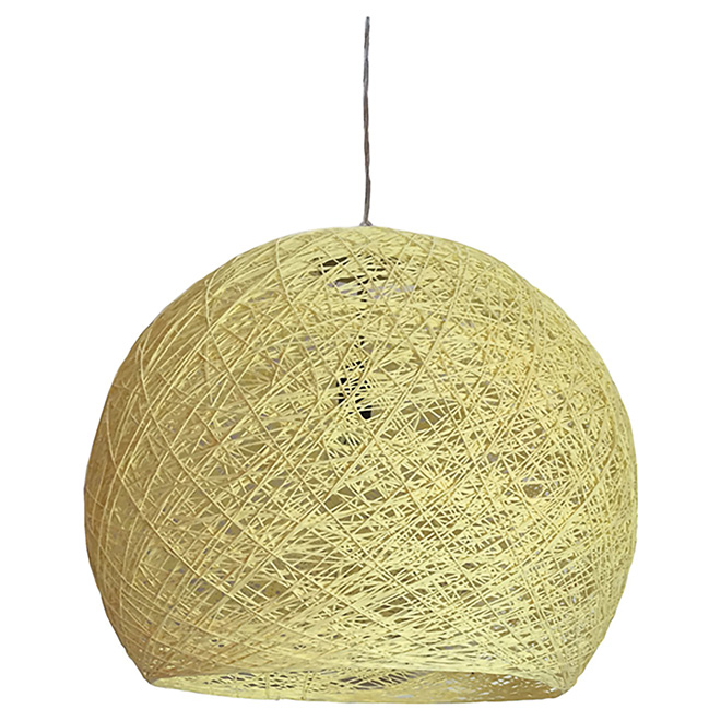 1-Light Pendant Light - Rope - Beige