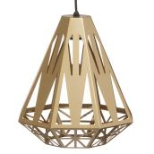 Pendant - 1 Light - Deco Satin Brass Shade
