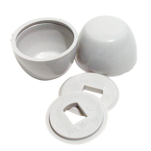 Plastic Bolt Caps - Bone Coloured
