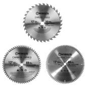 Set of 3 Circular Saw Blades- 12