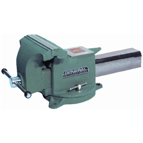 Steel Bench Vise Green 5""