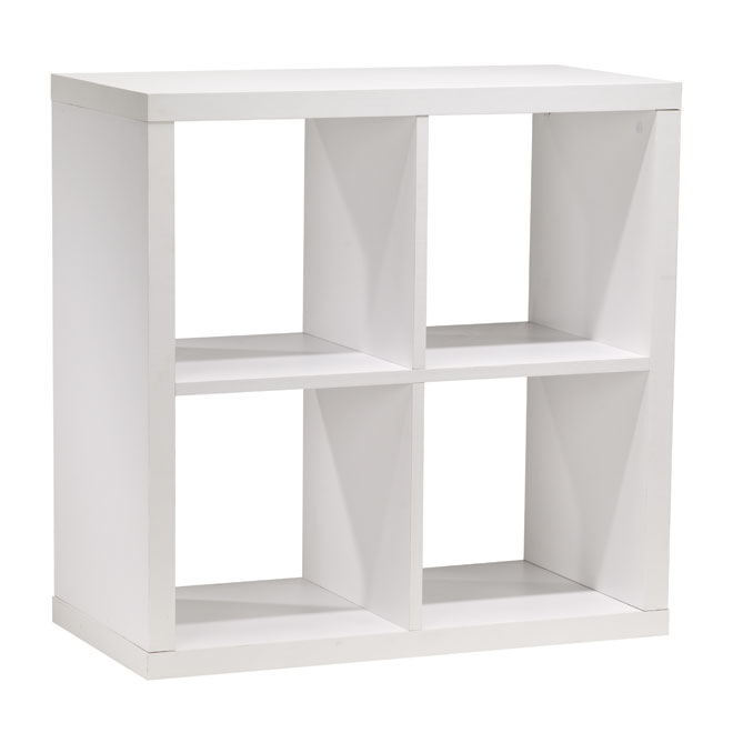 4 cube bookcase rona for Meuble audio ikea