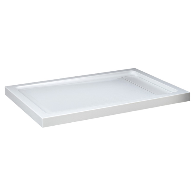 shower base acrylic hidden drain 48