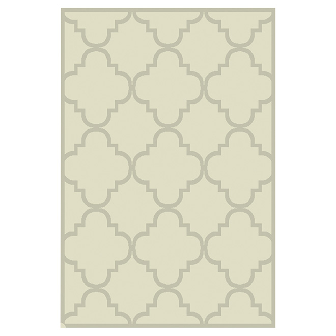 "Elsa Decorative Rug -  5'2"" x 7'4"" - Linen"