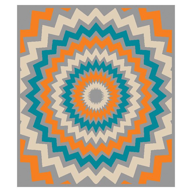 """Pop Star"" Area Rug - Multicolored - 3'3"" x 3'9"""