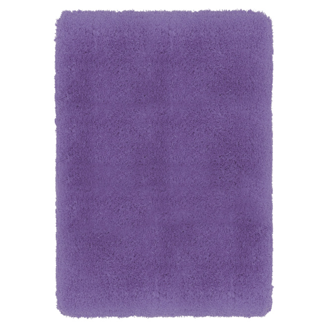 "Polyester Rug - 4' 5"" x 5' 3"" - Purple"