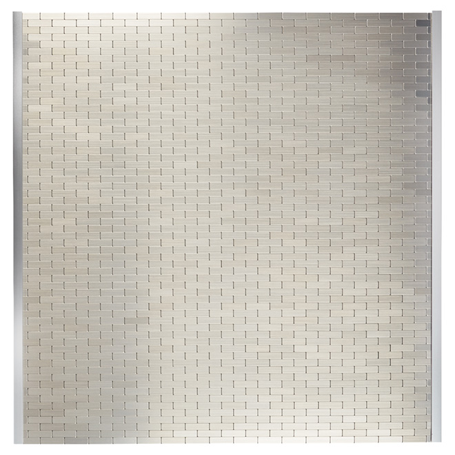 "Self-Adhesive Backsplash Tile - ""Bricky"" - Metal"