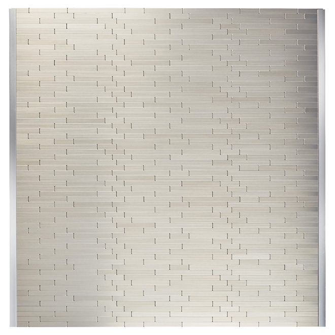 "Self-Adhesive Backsplash Tile - ""Linox"" - Metal"